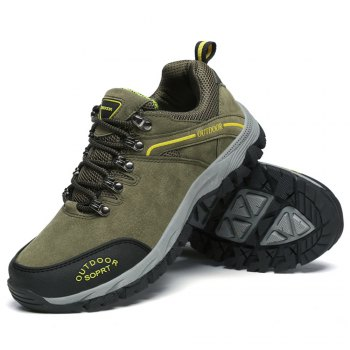 Men'S Lace Hiking Outdoor Hiking Shoes - ARMYGREEN 41