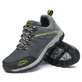 Men'S Lace Hiking Outdoor Hiking Shoes - DEEP GRAY 49