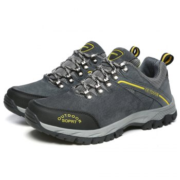 Men'S Lace Hiking Outdoor Hiking Shoes - DEEP GRAY 45
