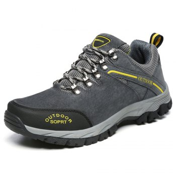 Men'S Lace Hiking Outdoor Hiking Shoes - DEEP GRAY 46