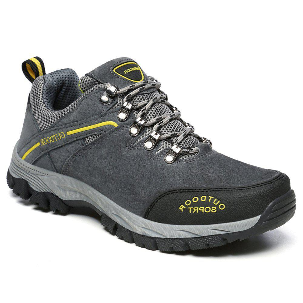 Men'S Lace Hiking Outdoor Hiking Shoes - DEEP GRAY 39