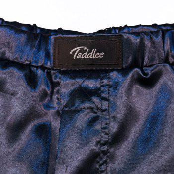 Taddlee Sexy Men's Boxer Shorts Trunks Sleepwear Home Short Bottoms 2017 New Boxers Casual Solid Basic Trunk - BLUE L