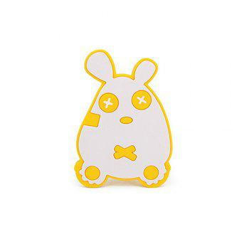 Cute mouse silicone bath brush MY0138-blue - YELLOW YELLOW