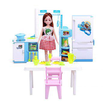 Baby Kitchen Furniture Children Cooked Food for Girls Toys Birthday Presents - COLORFUL COLORFUL