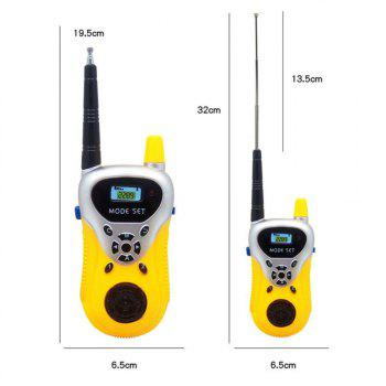 Kids Walkie Talkies Portable Two Way Radios Rechargeable Long Range Walky Talky for Children Cool Outdoor Toys - YELLOW