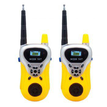 Kids Walkie Talkies Portable Two Way Radios Rechargeable Long Range Walky Talky for Children Cool Outdoor Toys - YELLOW YELLOW