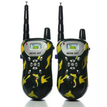 Kids Walkie Talkies Portable Two Way Radios Rechargeable Long Range Walky Talky for Children Cool Outdoor Toys - GREEN GREEN
