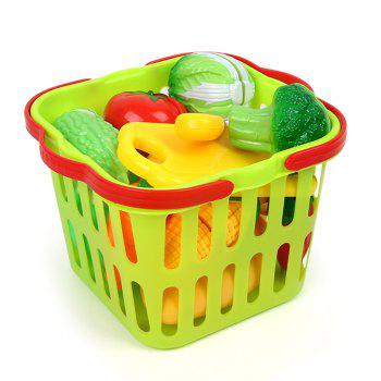 House Small Basket Vegetables Toy - COLORMIX