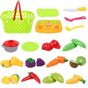 Early Childhood Education Big Basket Fruits Vegetables Toy -  COLORMIX