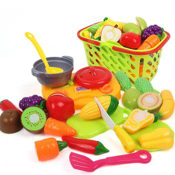 Early Childhood Education Big Basket Fruits Vegetables Toy - COLORMIX COLORMIX