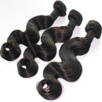 Body Wave 100 Percent Brazilian Virgin Human Hair Weave 10-20inch 300grams/lot - NATURE COLOR 10INCH*10INCH*10INCH