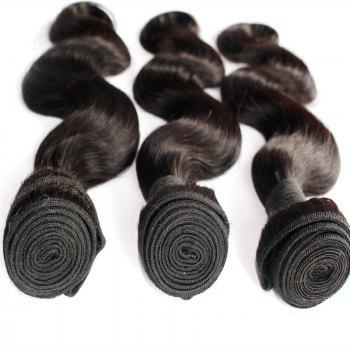 Body Wave 100 Percent Brazilian Virgin Human Hair Weave 10-20inch 300grams/lot - NATURE COLOR 12INCH*12INCH*12INCH