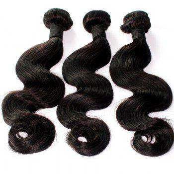 Body Wave 100 Percent Brazilian Virgin Human Hair Weave 10-20inch 300grams/lot - NATURE COLOR 18INCH*18INCH*18INCH