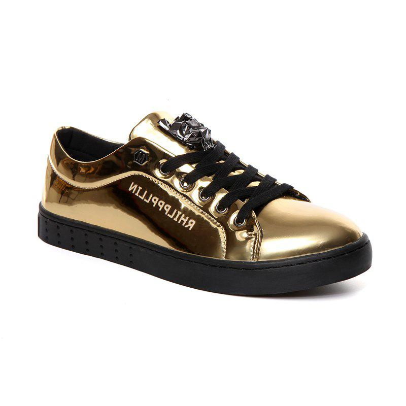 Pidele M518 Metallic Fabrics Fashion Casual Men's Shoes