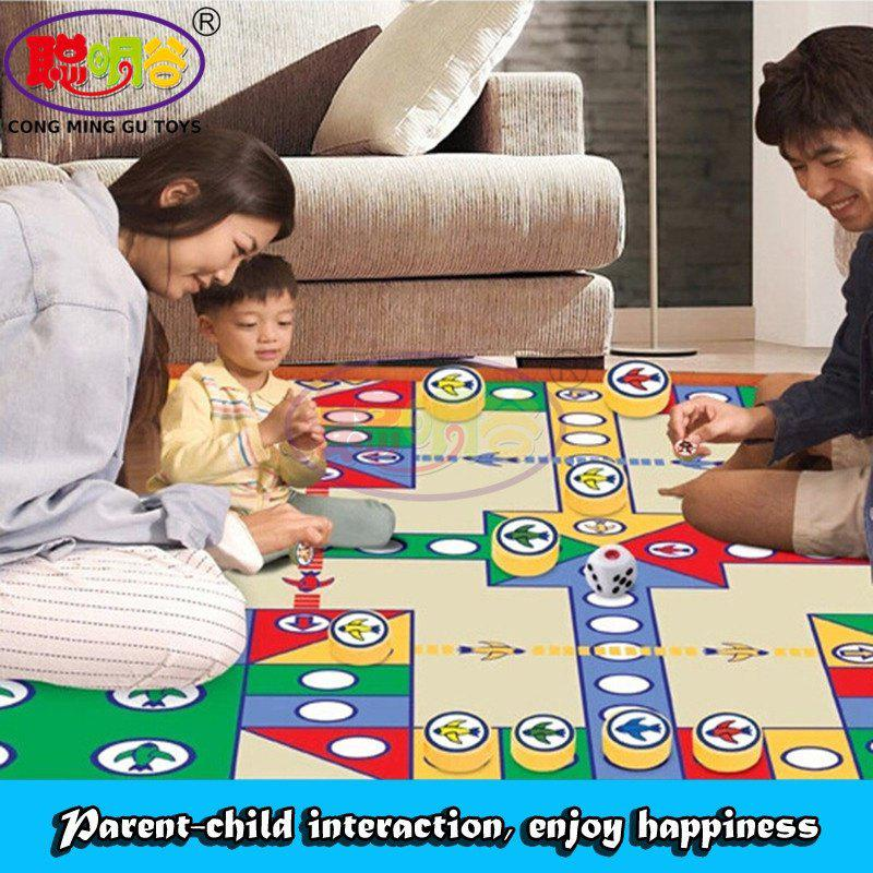CongMingGu Chessmen Board Game Flying Chess Carpet Kid Classic Flight Game Toy Classic Puzzle Game Enjoy Family Fun Gift for Kid deep sea adventure board game with english instructions funny cards game 2 6 players family party game for children best gift