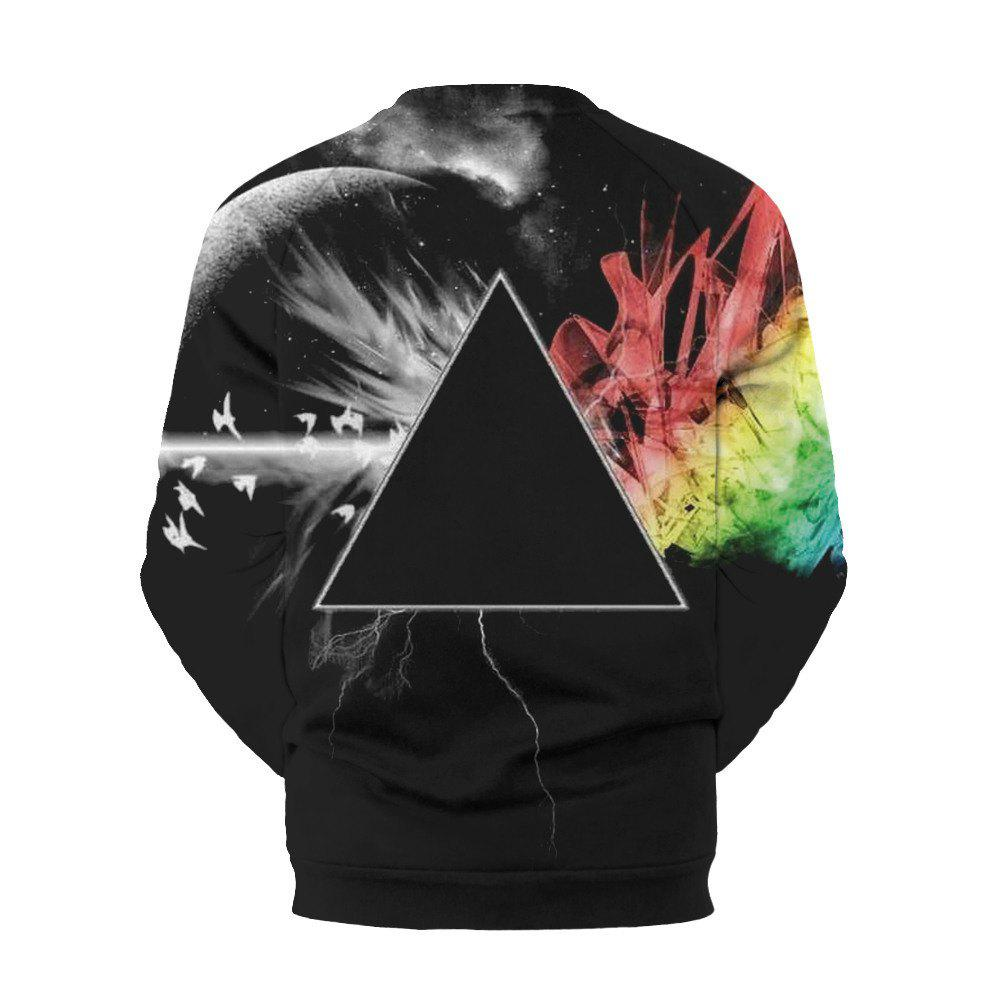 Star Digital Printed Circular Collar Sports  Sweatshirt - COLORMIX L