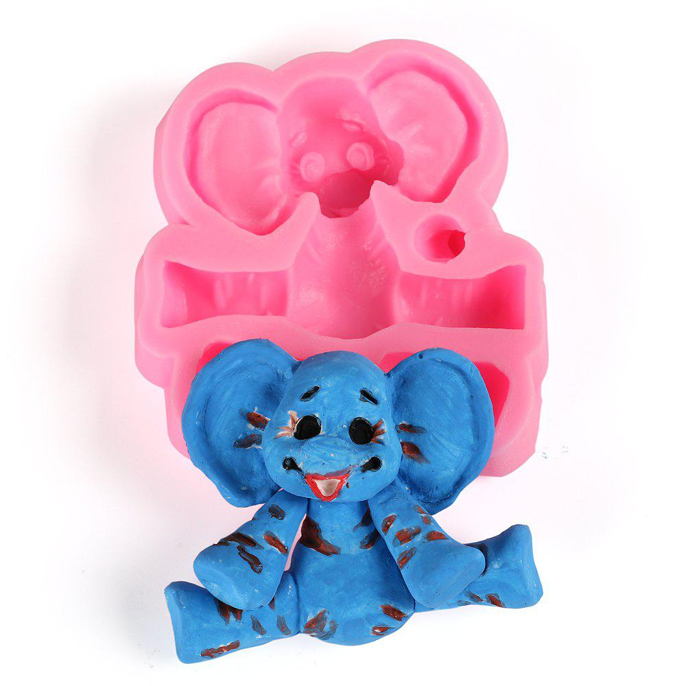Facemile Cartoon Elephant Silicone Mold Baby Party Fondant Cake Decorating Tools Kitchen Baking Chocolate Candy Gumpaste Molds 10 in 1 fondant cake decorating flower modelling tool set multicolored