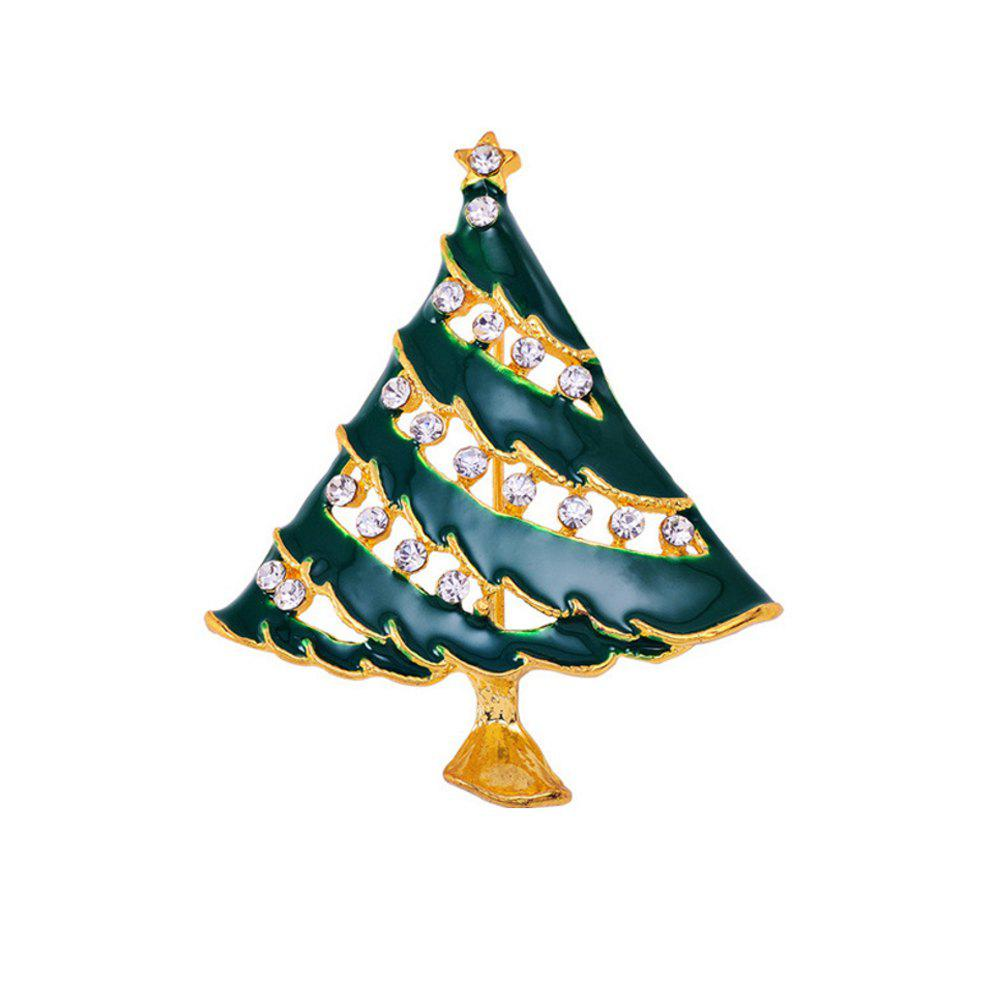 Christmas Tree Brooch Christmas Gift - GREEN