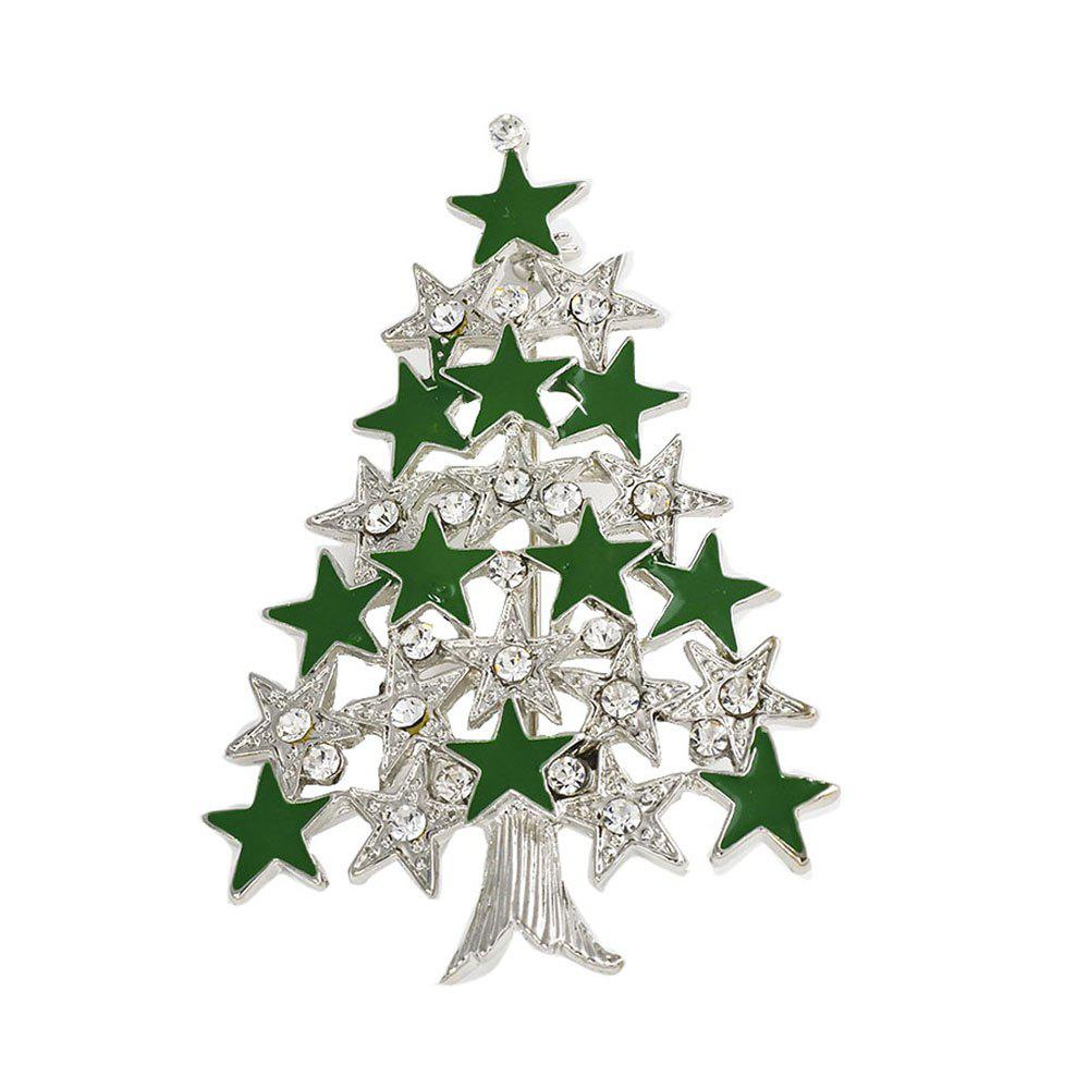Rhinestone Christmas Tree Charms Pendants Pins Brooch Women Girls Brooches Pins Decoration Xmas Merry Xmas Gifts 3d navidad merry christmas postcard tree greeting cards postcards birthday gift message card xmas thanksgiving card