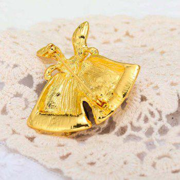 Christmas Gifts Pins And Brooches For Women Small Bell Heart Rhinestone Brooch - GOLDEN