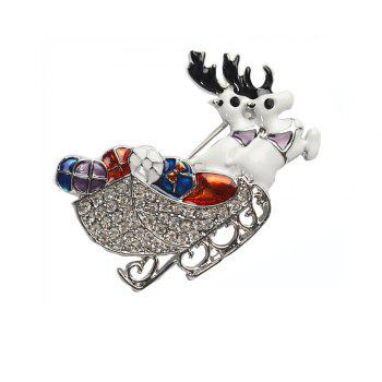 Deer Brooches Rhinestone Brooch Pins Jewelry - SILVER SILVER
