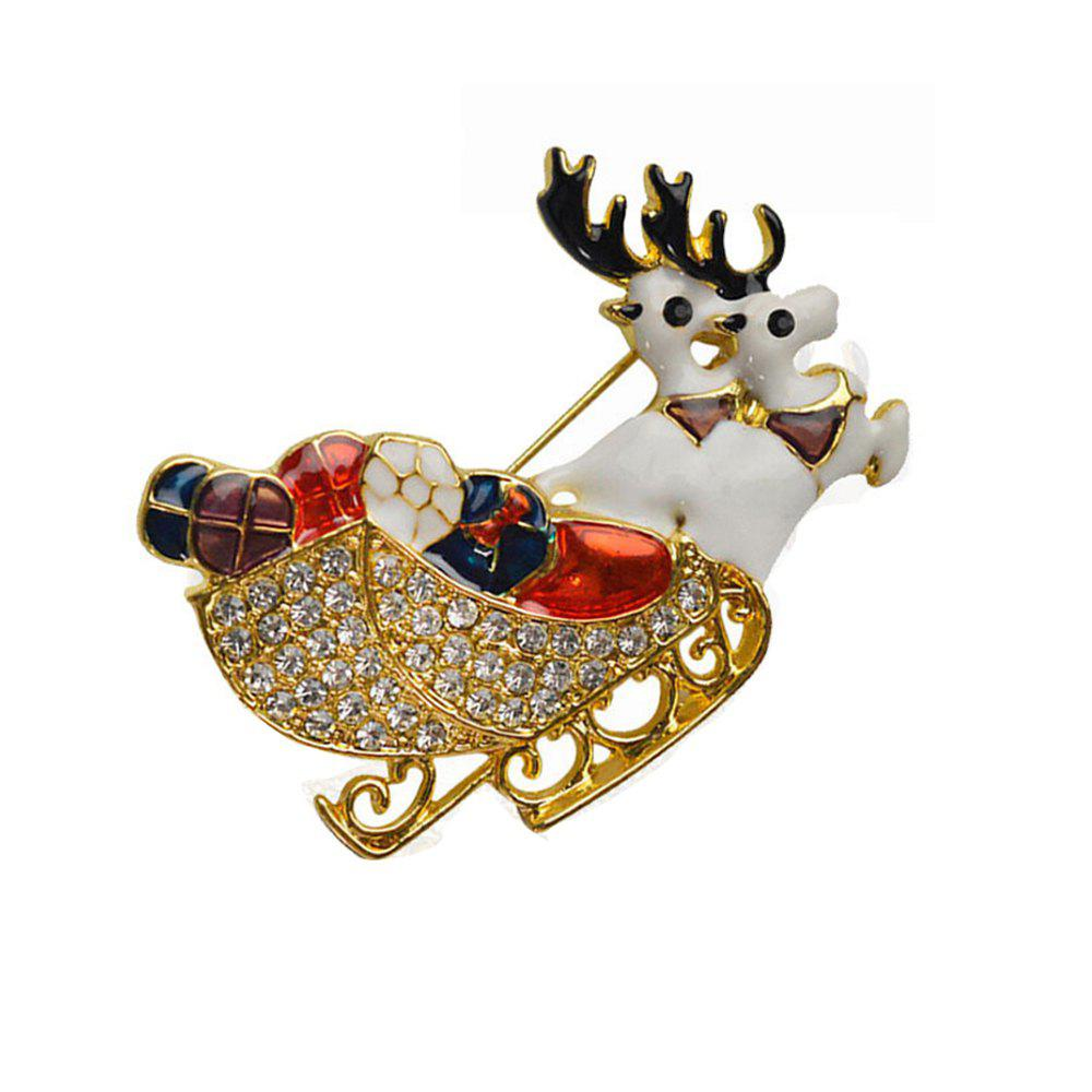 Deer Brooches Rhinestone Brooch Pins Jewelry - GOLDEN