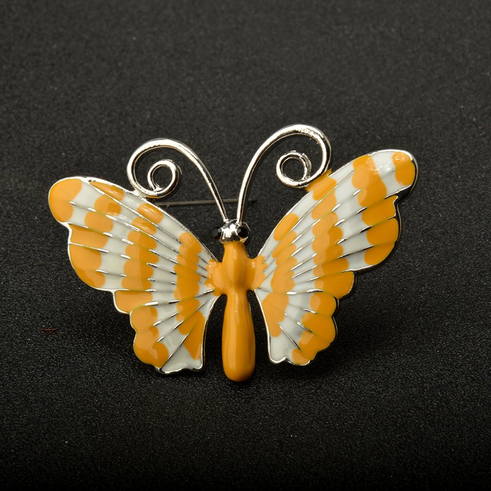 Paint Butterfly Brooch Pins Fashion Costume Jewelry for Women or Girls - DAISY