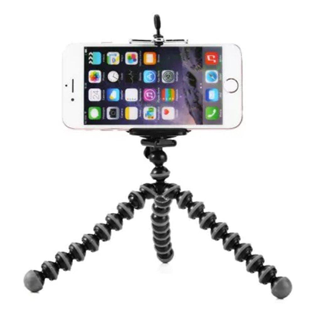 Mini Octopus Style Mobile Phone Stand Flexible Tripod - DARK GREY
