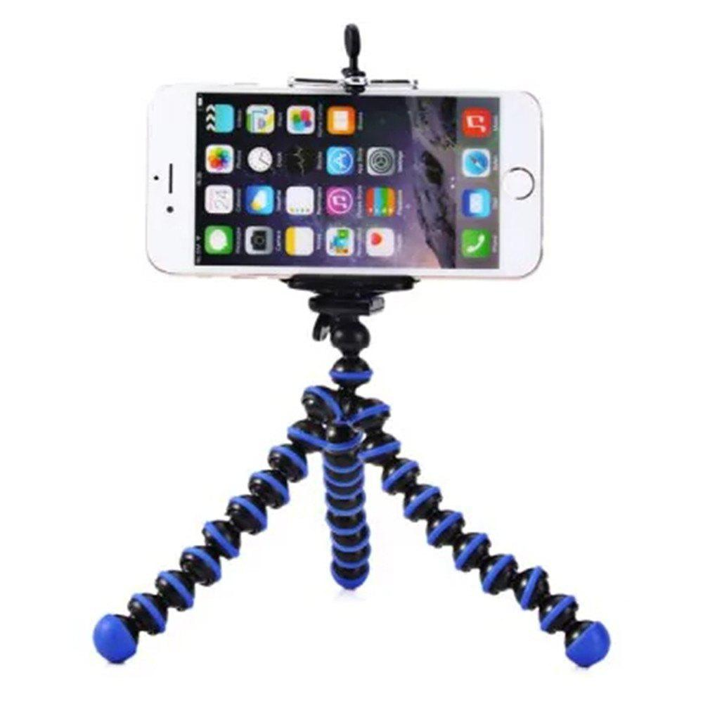 Mini Octopus Style Mobile Phone Stand Flexible Tripod - CERULEAN
