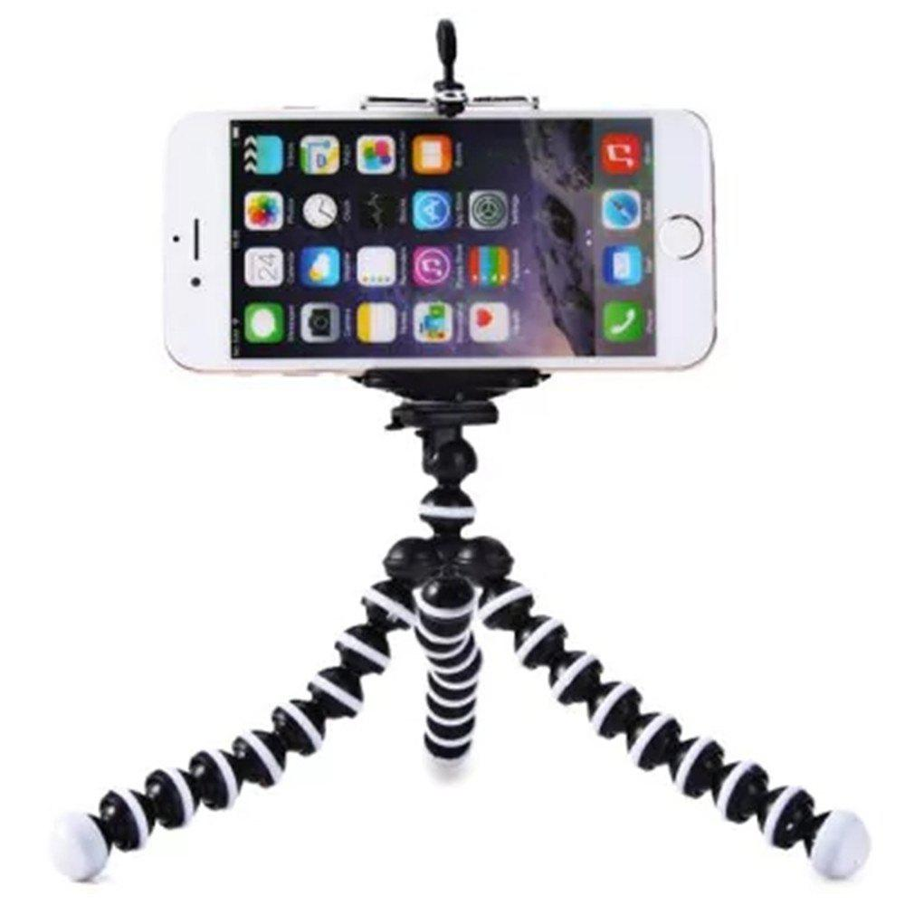Mini Octopus Style Mobile Phone Stand Flexible Tripod - WHITE