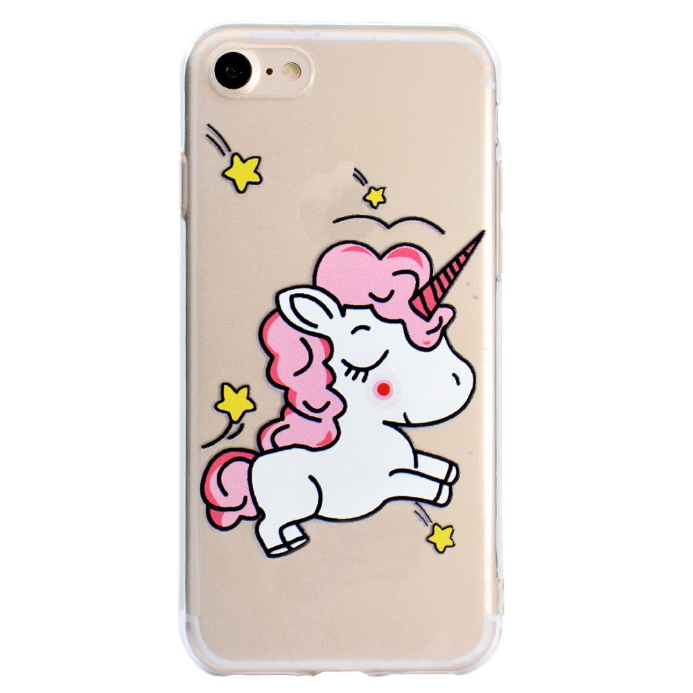 Unicorn Pattern HD Transparent TPU Material Soft Phone Case for iPhone 7 / 8 tested for xiaomi mi 5 mi5 lcd screen xiaomi 5 fhd display touch panel replacement digitizer assembly parts with free shipping