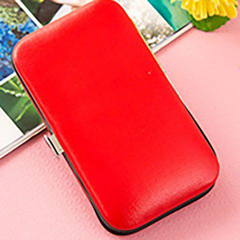 DIHE Nail Clipper Colours Clean Stainless Steel Convenient - RED