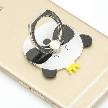Phone Holder Portable Crown Panda Design Phone Ring Holder For iPhone 8/7/6 - BLACK