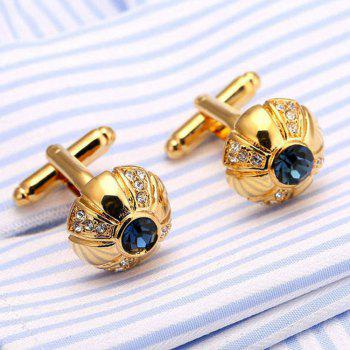 Men's Cufflinks Exquisite Design Stylish Cuff Buttons Accessory - GOLD