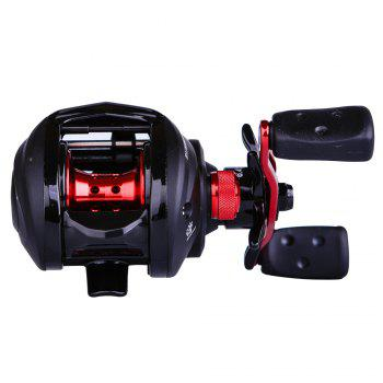 Abu Garcia BLACK MAX3 Affordable High Speed 4+1 BB Ball Bearing Right Hand Baitcast Fishing Reel - BLACK WITH RED BLACK/RED