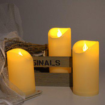 Set of 3pcs Flameless candles for Outdoor Using - IVORY COLOR IVORY COLOR