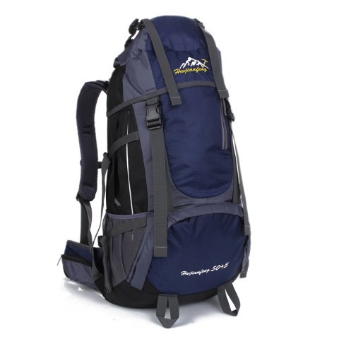 Huwaijianfeng 55L Large Space Climbing Hiking Camping Backpack - DEEP BLUE