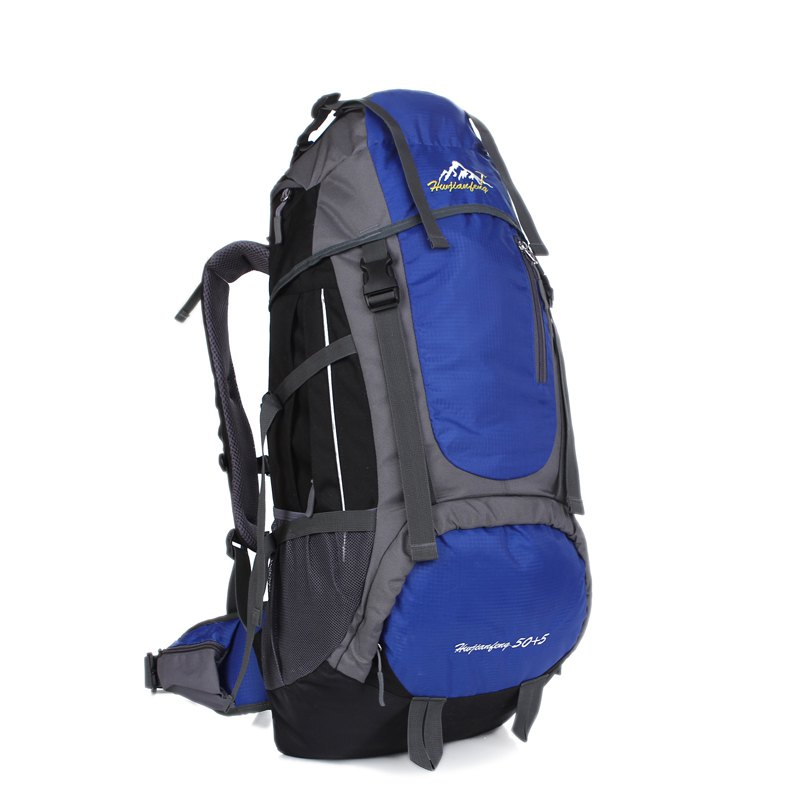 Huwaijianfeng 55L Large Space Climbing Hiking Camping Backpack - ROYAL
