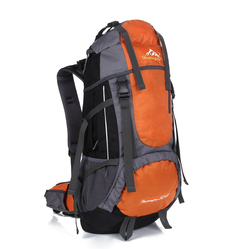 Huwaijianfeng 55L Large Space Climbing Hiking Camping Backpack - ORANGE
