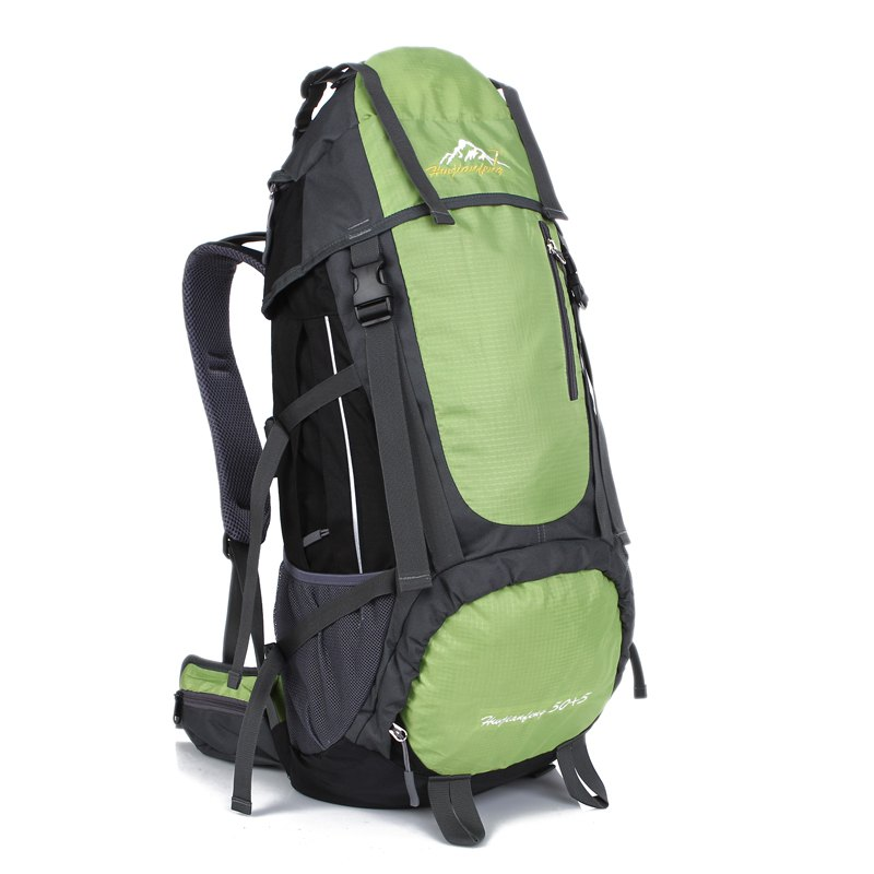 Huwaijianfeng 55L Large Space Climbing Hiking Camping Backpack - GREEN