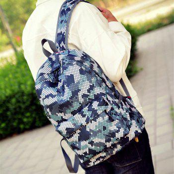 Fashion Hongjing Matching Color Casual Sporting Backpack - GRAY