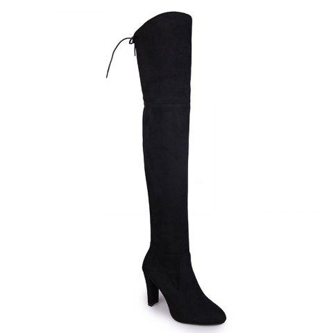Sharp Head And Long Boots - BLACK 37