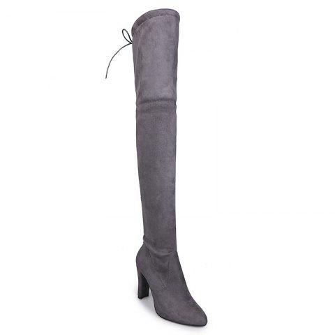 Sharp Head And Long Boots - GRAY 40