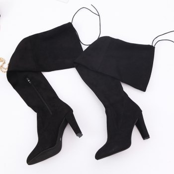 Sharp Head And Long Boots - BLACK 40