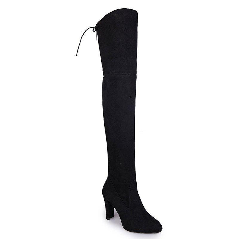 Sharp Head And Long Boots - BLACK 39