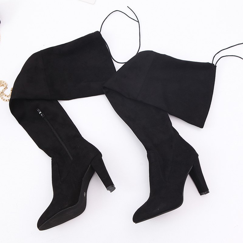Sharp Head And Long Boots - BLACK 34