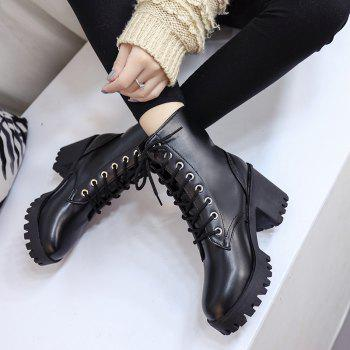 Winter New Style Wild Martin Boots - BLACK 39