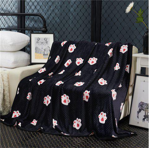 Weina The Footprints of The Bear The Blanket - BLACK W70INCH*L79INCH