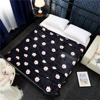 Weina The Footprints of The Bear The Blanket - BLACK W79INCH*L90INCH