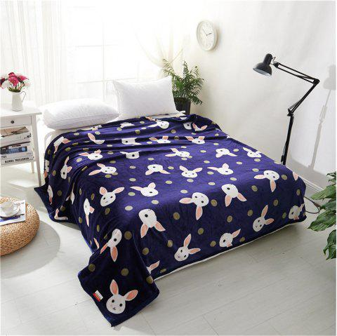 Weina Lovely Rabbit la couverture - Bleu W79INCH*L90INCH